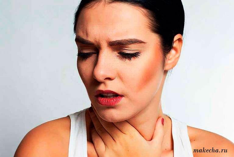 Симптомы-перщит-в-горле
